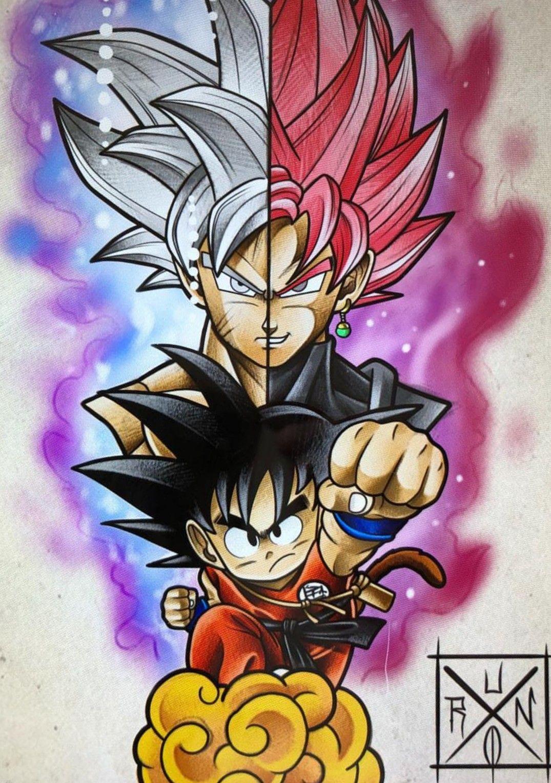 Goku Ultra Instinct & Goku Black Rose, Dragon Ball Super