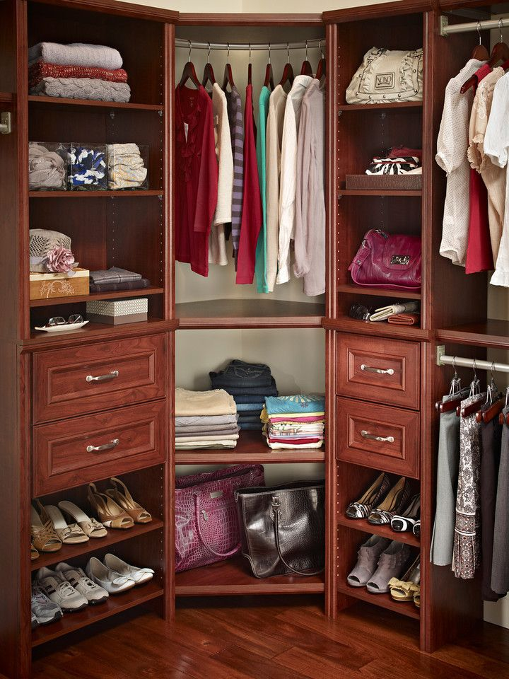 Closetmaid Impressions Corner Unit In Dark Cherry