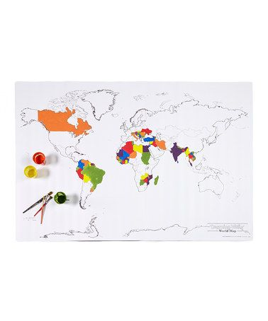 Color Your Own World Map.Color Your Own Wall Size Learning Map For Kids Cool Toys For Kids
