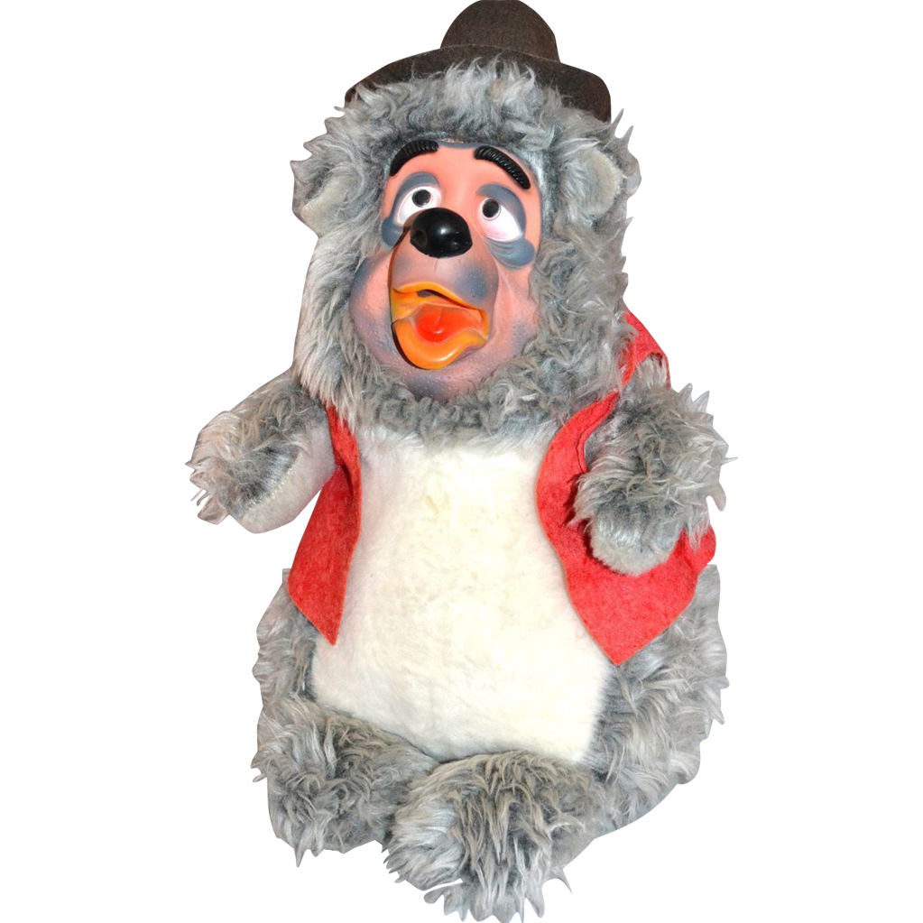 "1960s Disney Rare Brer Bear 19"" Stuffed Animal (With"