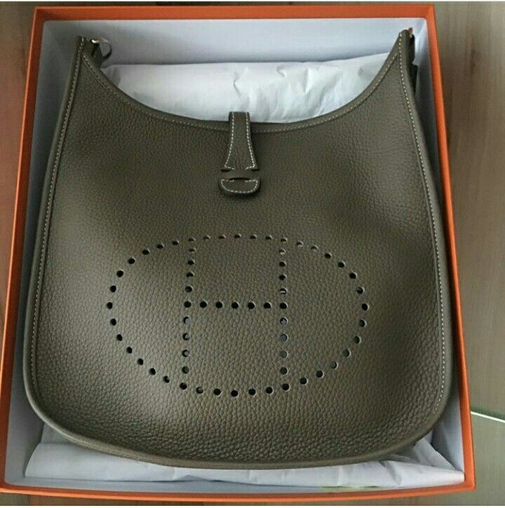 9cedf285ca79 Model  Hermes Evelyne 29 Condition  New Stamp  A Color  Etoupe Leather