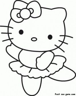 Print Out Hello Kitty Ballet Dancer Coloring In Sheet Printable Coloring Pages For Kids Hello Kitty Drawing Hello Kitty Coloring Kitty Coloring