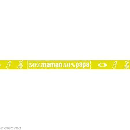 Masking tape Girl - 50% Vert anis 10 mm x 10 m