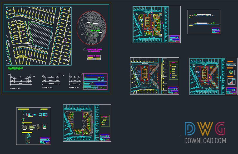 Mega Park Dwg Project Dwgdownload Com In 2020 Projects Park Autocad