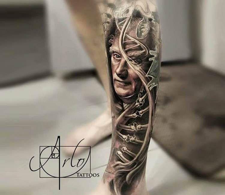 Dna Tattoo By Arlo Tattoos Post 15959 In 2020 Dna Tattoo Tattoos Cool Tattoos