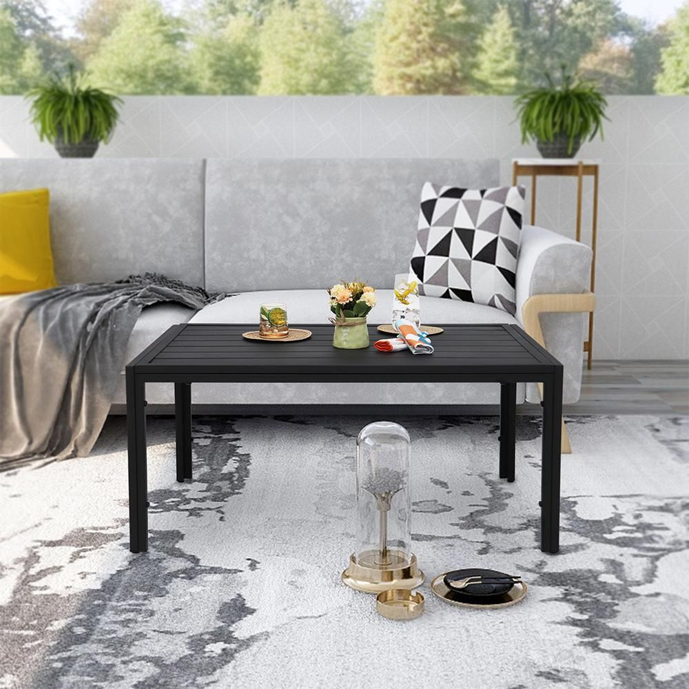 Maypex Steel Outdoor Slat Coffee Table 300372 The Home Depot Coffee Table Outdoor Coffee Tables Coffee Table Prices [ 1000 x 1000 Pixel ]