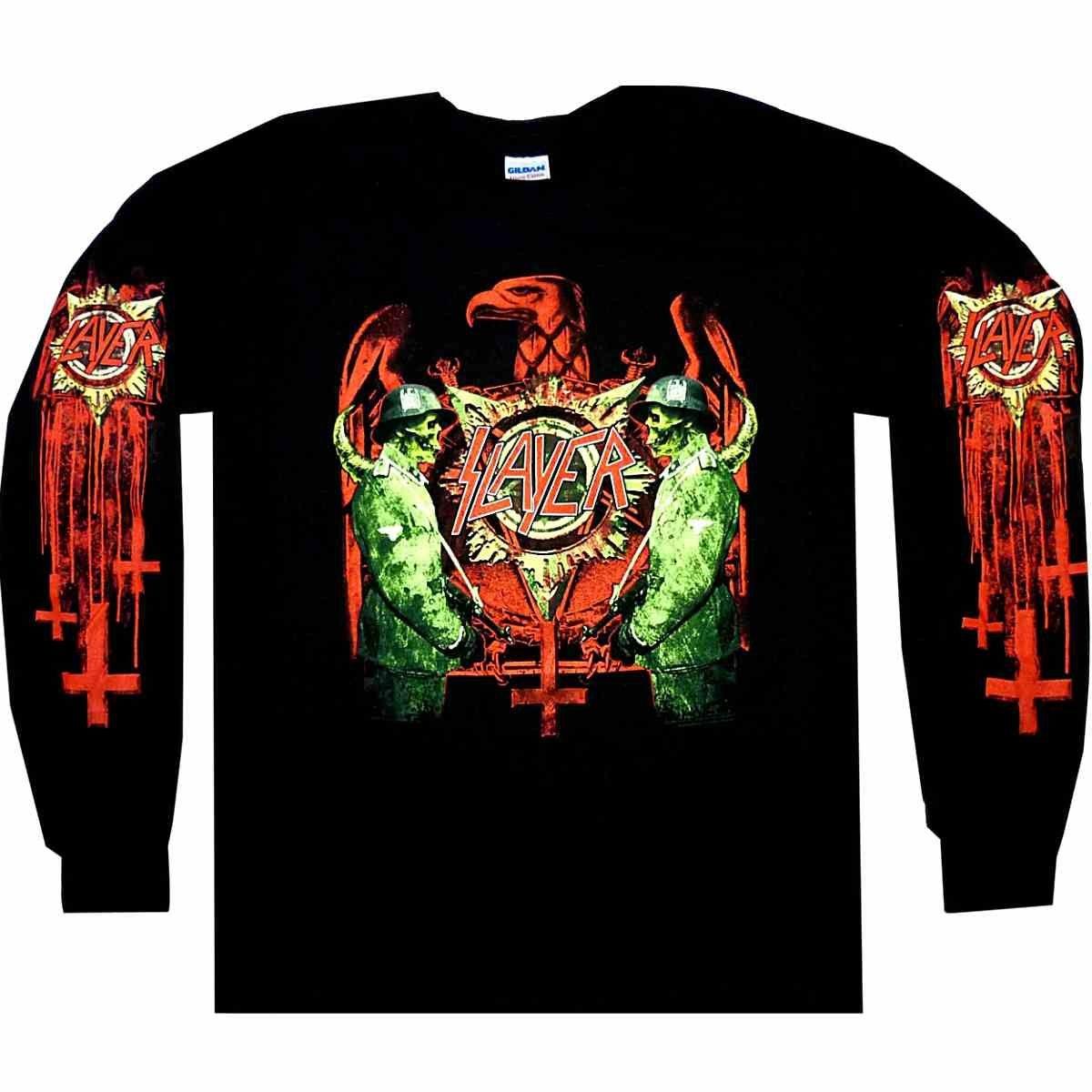 Slayer Silver Eagle Thrash Metal Rock Licensed Tee T-Shirt Men