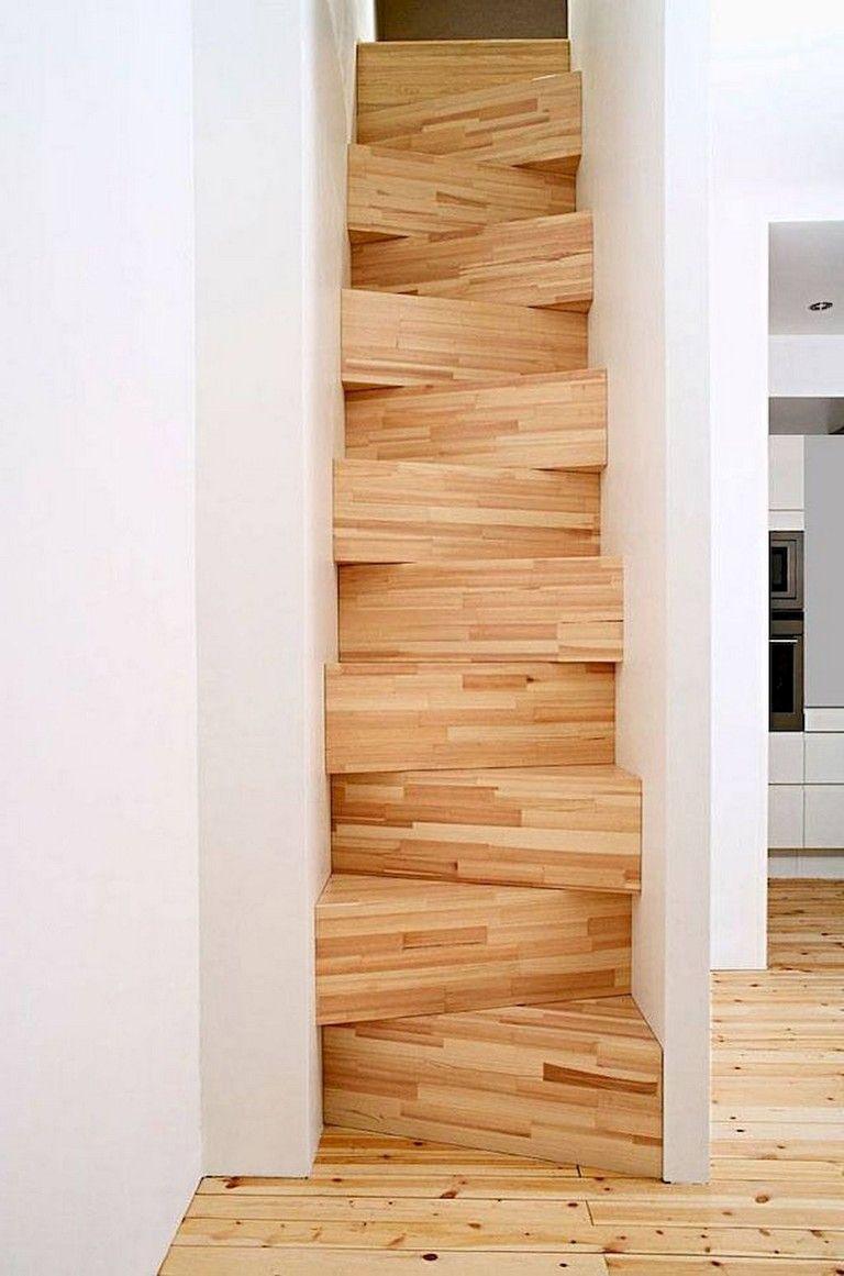 60 Awesome Loft Stair Ideas Small Room Escalier Gain De Place Maison Mini Maison