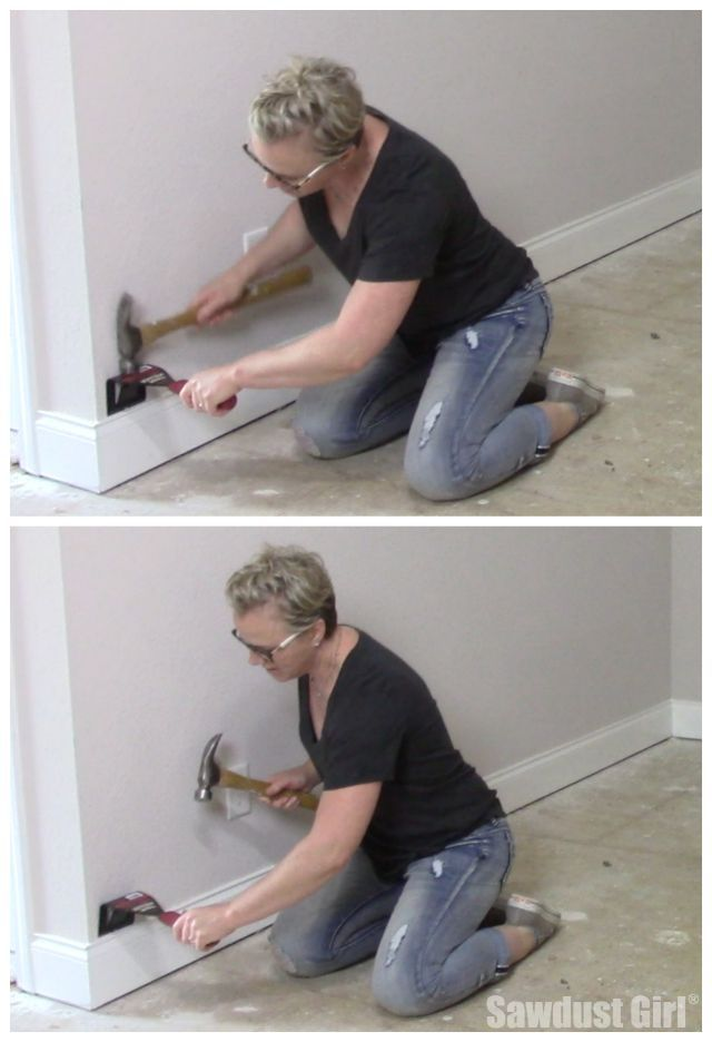 Remove Baseboard With The Trim Puller Baseboards Baseboard Trim Removing Baseboards