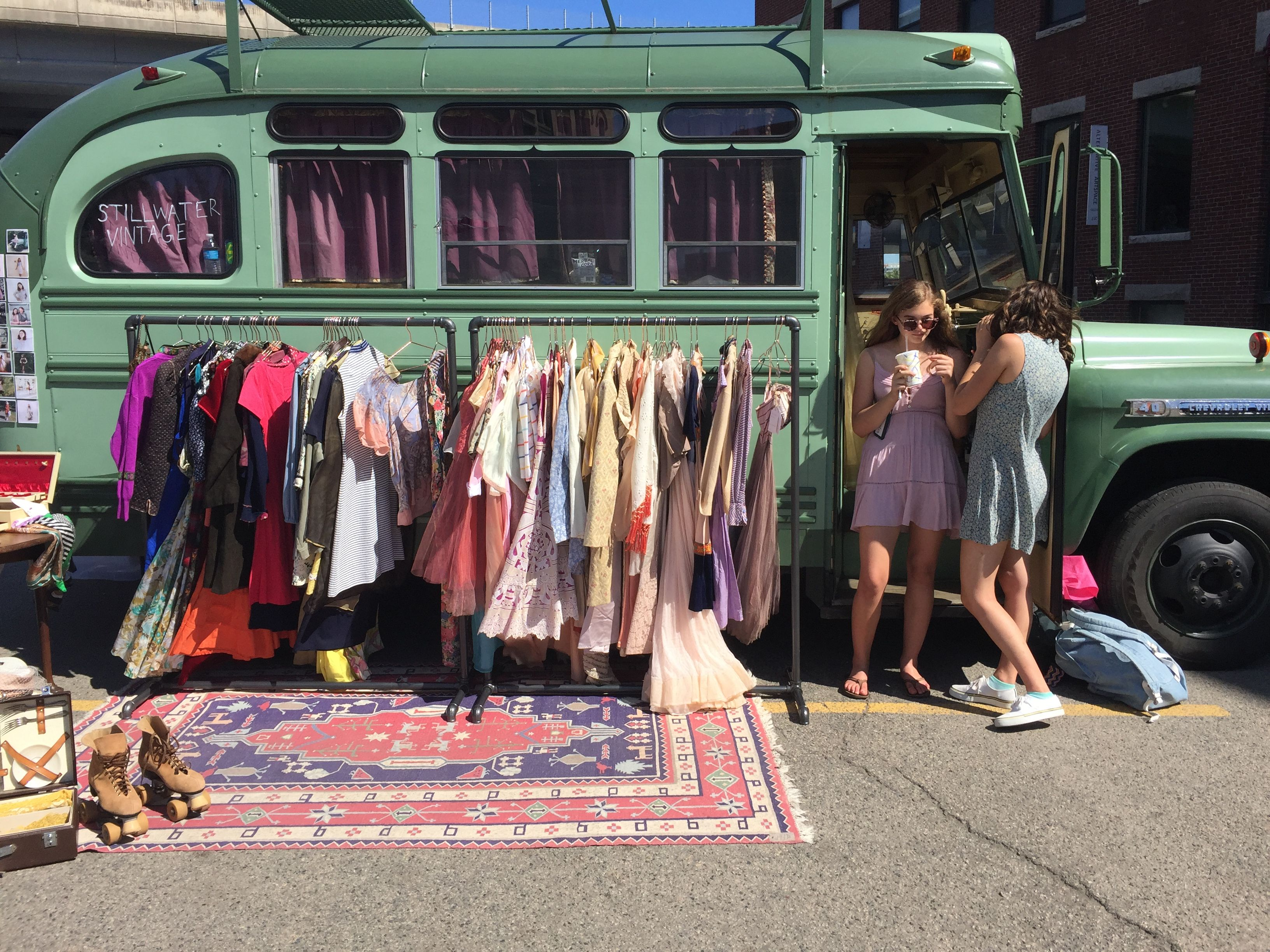 Stillwater Vintage Bus Fashion Truck Pop Up Shops Vintage Market