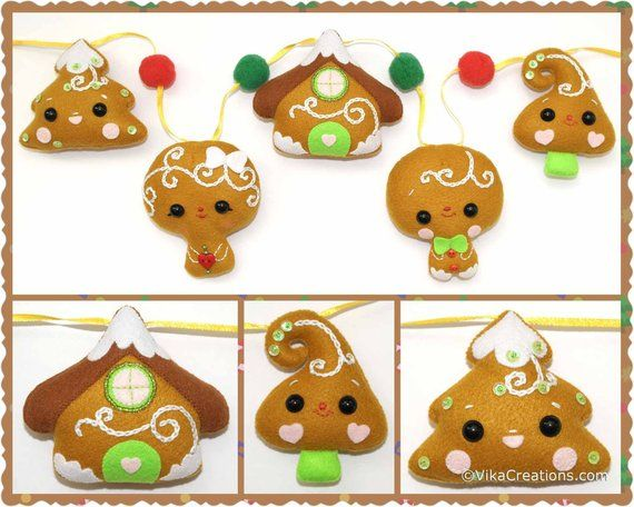 Ready to Ship Christmas Garland Five Gingerbread Style