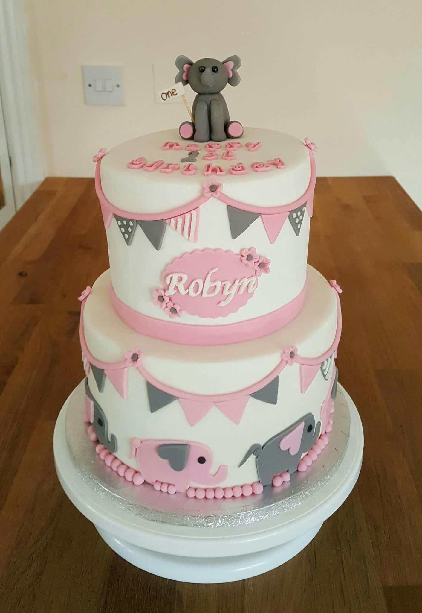 Phenomenal Elephant 1St Birthday Cake Elephant Birthday Cakes Elephant Funny Birthday Cards Online Fluifree Goldxyz