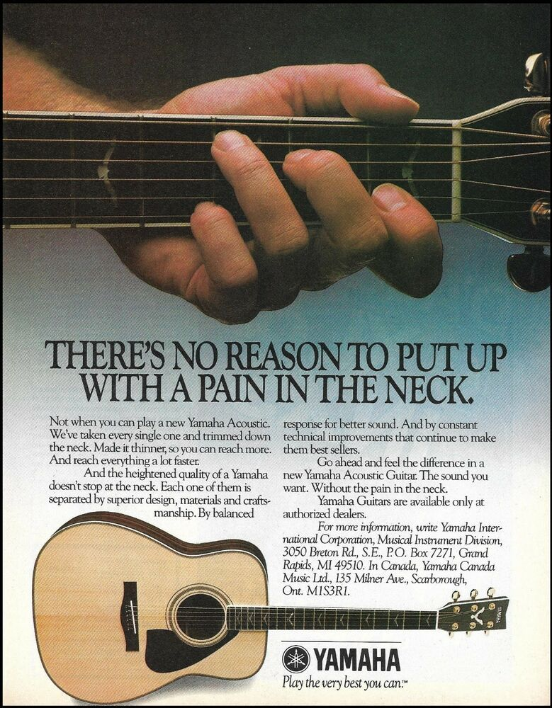 Yamaha Classic Acoustic Thin Neck Guitar 8 X 11 Advertisement 1985 Ad Print Yamaha Yamaha Guitar Acoustic Guitar Lessons