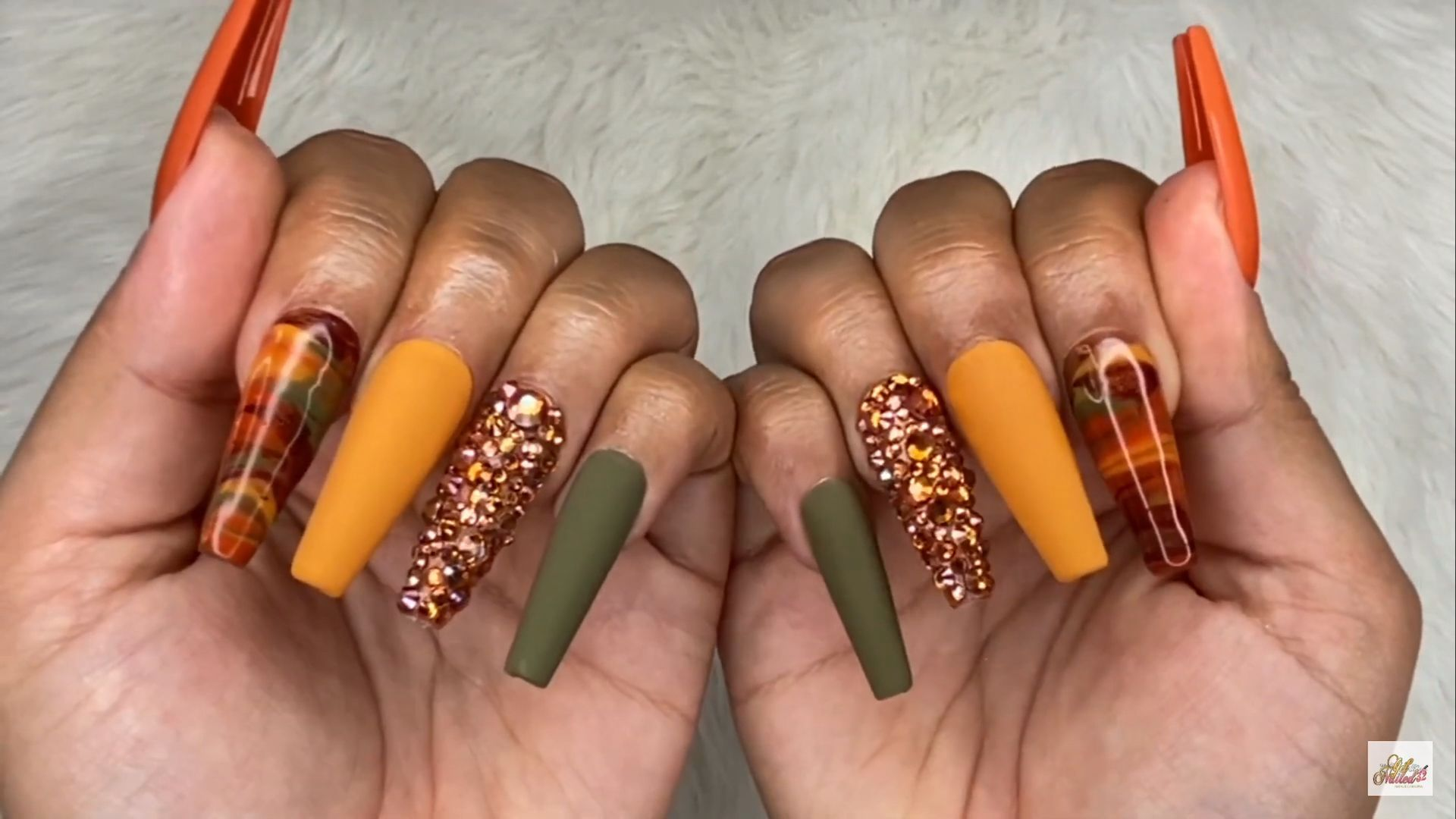 Fall Inspired Nails Getnailed32 In 2020 Acrylic Nails Fall Acrylic Nails Luxury Nails