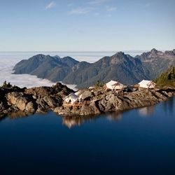 Clayoquot Wilderness Resort, exotic paradox of indulgent luxury and remote, untamed wilderness, in the breathtaking Clayoquot Sound Biosphere Reserve in Canada.