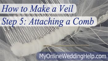 How To Wrap And Attach A Comb Your Diy Veil This Is Step Five