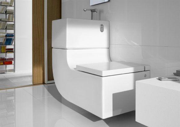 Wastafel grijswaterreservoir en toilet in één duurzaam wonen