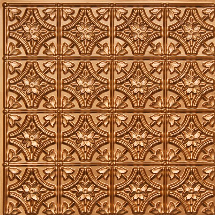 "Gothic Reims - Faux Tin Ceiling Tile - 24""x24"" - #150 ..."