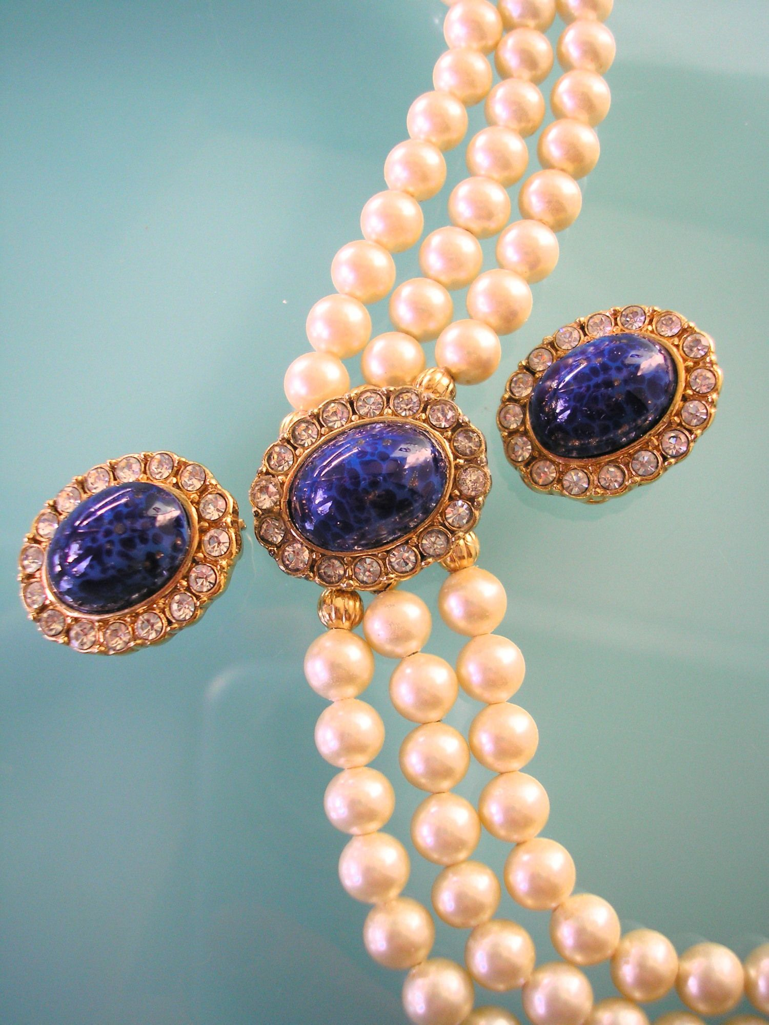 Attwood And Sawyer Jewelry Set, Bridal Pearls, A And S