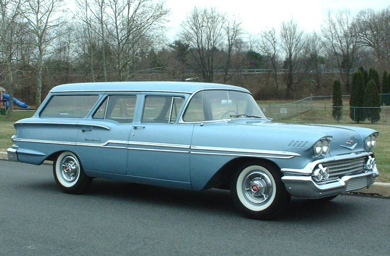 1958 chevrolet brookwood station wagon autos diferentes pinterest furgoneta motocicletas. Black Bedroom Furniture Sets. Home Design Ideas