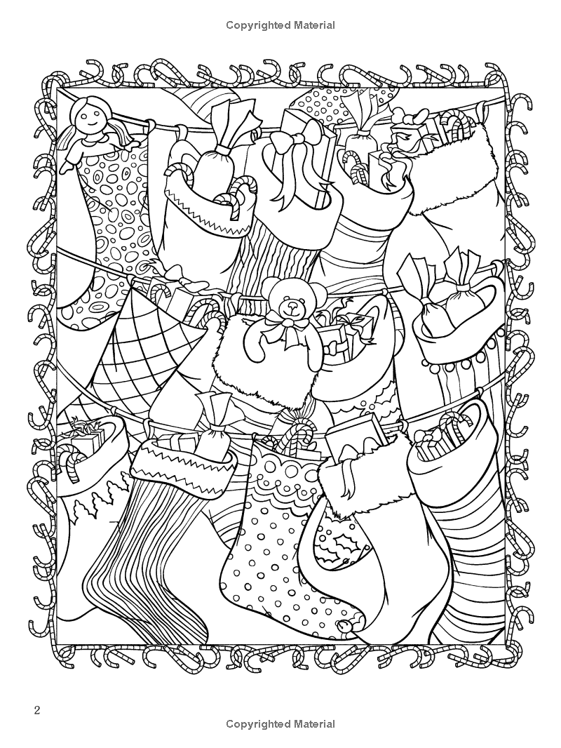 - ChristmasScapes (Dover Holiday Coloring Book): Jessica