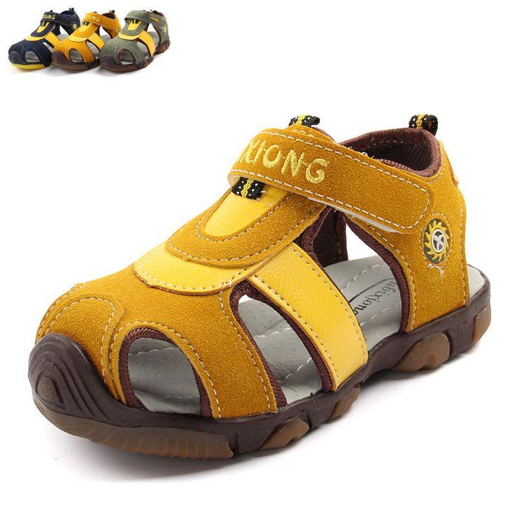 fcb7b3fba5d3f Summer the new boy s sandals frosted baotou baby shoes non-skid super soft  goose bottom children sandals alishoppbrasil