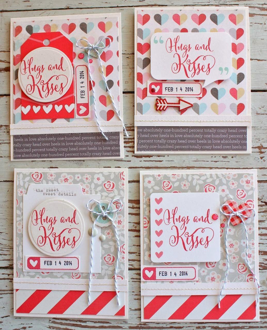 mish mash valentine's cards using gossamer blue february