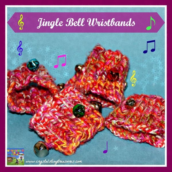JINGLE BELL WRIST BANDS - Crystals Tiny Treasures