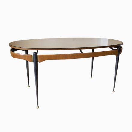 Italienischer Esstisch mit Tischplatte in Sonnen Optik, 1950er - esszimmer italienisch