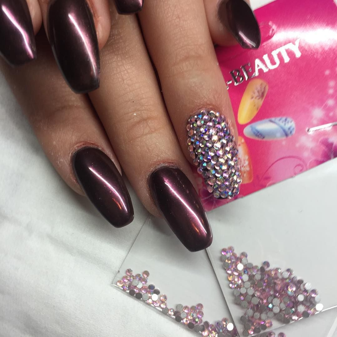 Nageldesign Strasssteine Instagram Nailstagram Nails Nageldesign Nailart Naildesign