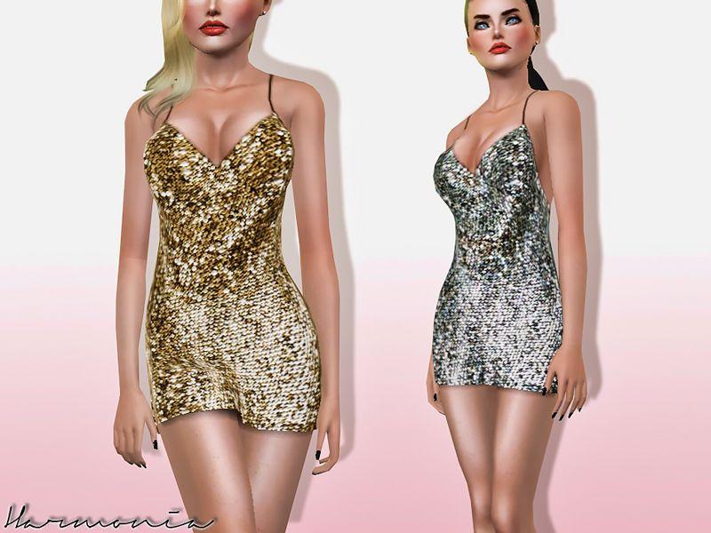 Harmonia's Mirror Sequin Tank Dress