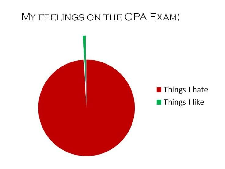 My Feelings On The Cpa Exam Pie Chart  Cpa Exam Journey