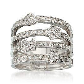 C. 2000 Vintage .30 ct. t.w. Multi-Row Diamond Ring in 18kt White ... 7e0100090