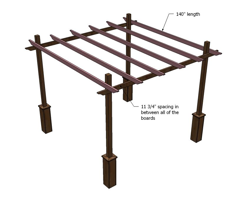 39 Ingenious Diagrams For Your Home And Garden Projects: Build A Weatherly Pergola