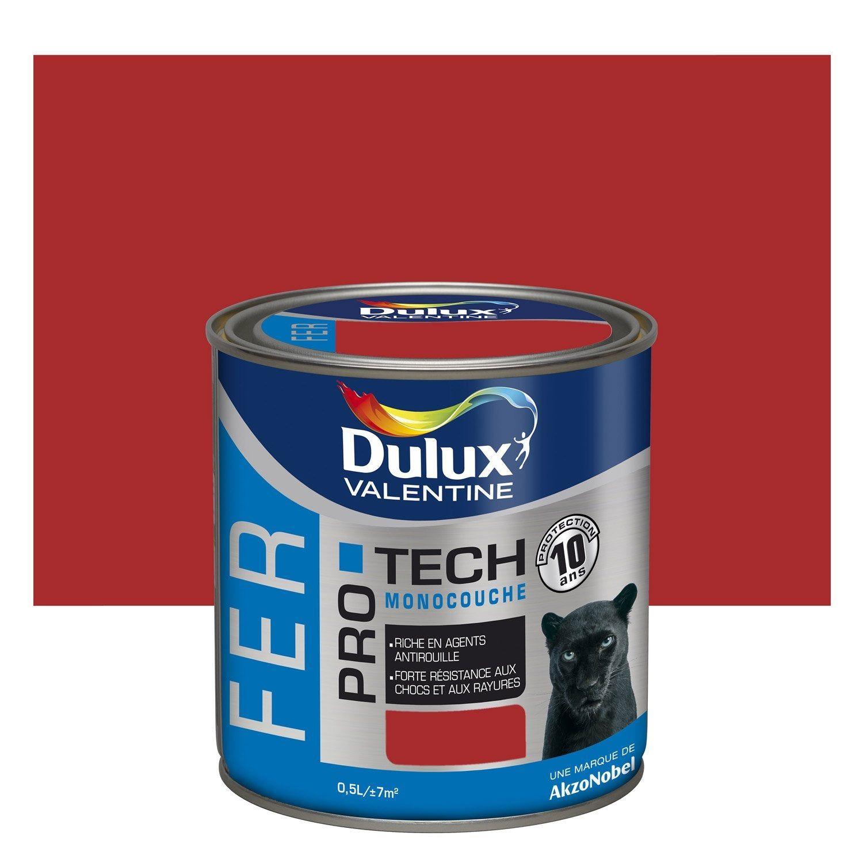 Peinture Fer Extérieur Protech Dulux Valentine Rouge