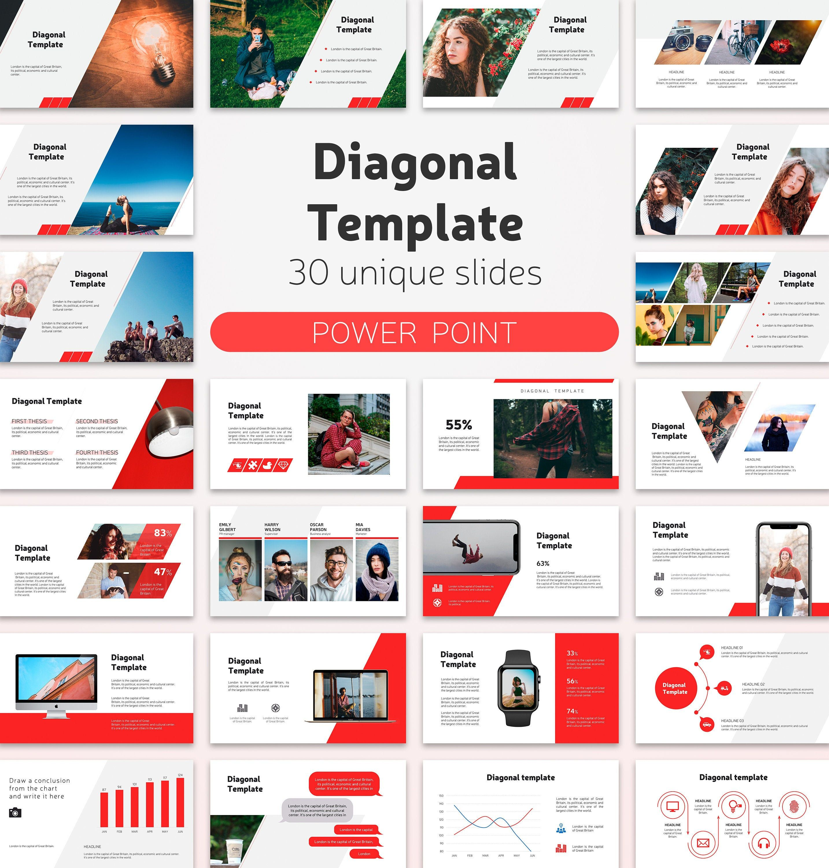 Creative Presentation Powerpoint Template Easy To Edit 30 Etsy Presentation Design Layout Presentation Design Brochure Design Layouts