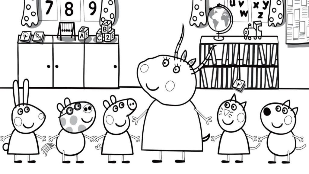 Coloring Rocks Peppa Pig Coloring Pages Peppa Pig Colouring Coloring Books