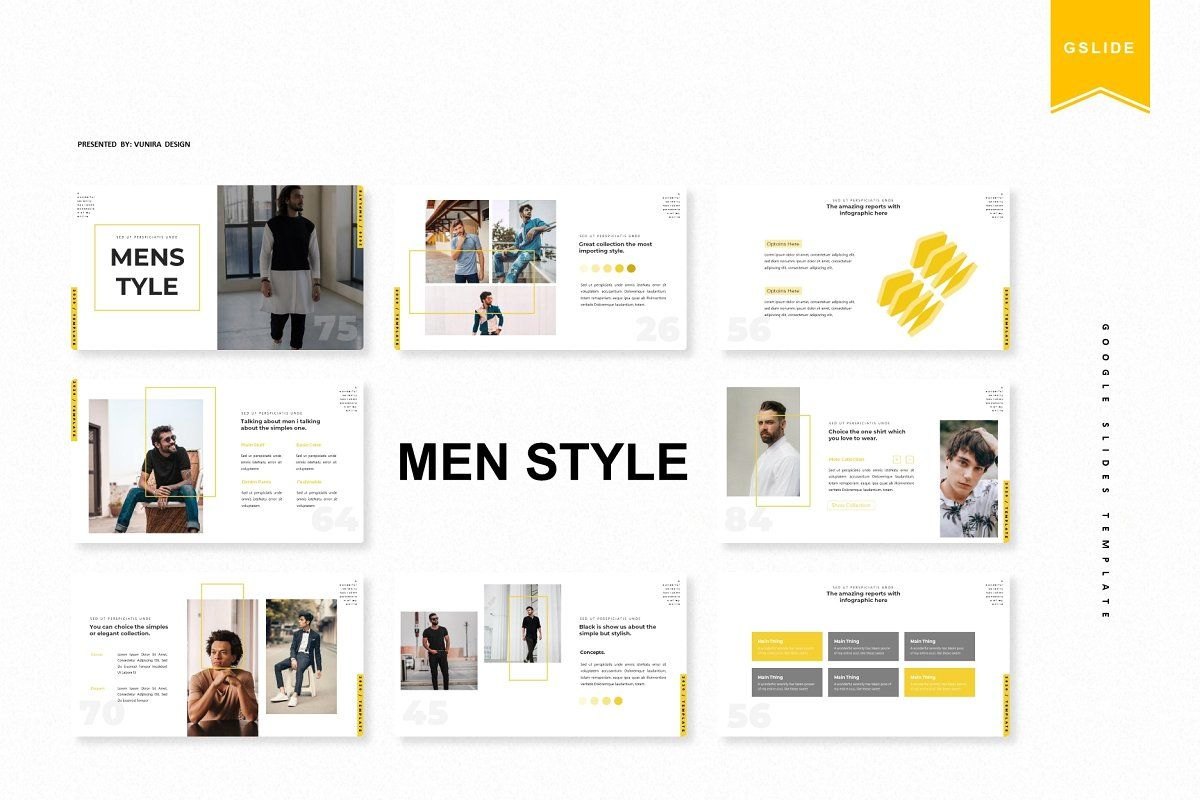 Men Style Google Slide Template Google Slides Template Presentation Templates Mens Fashion