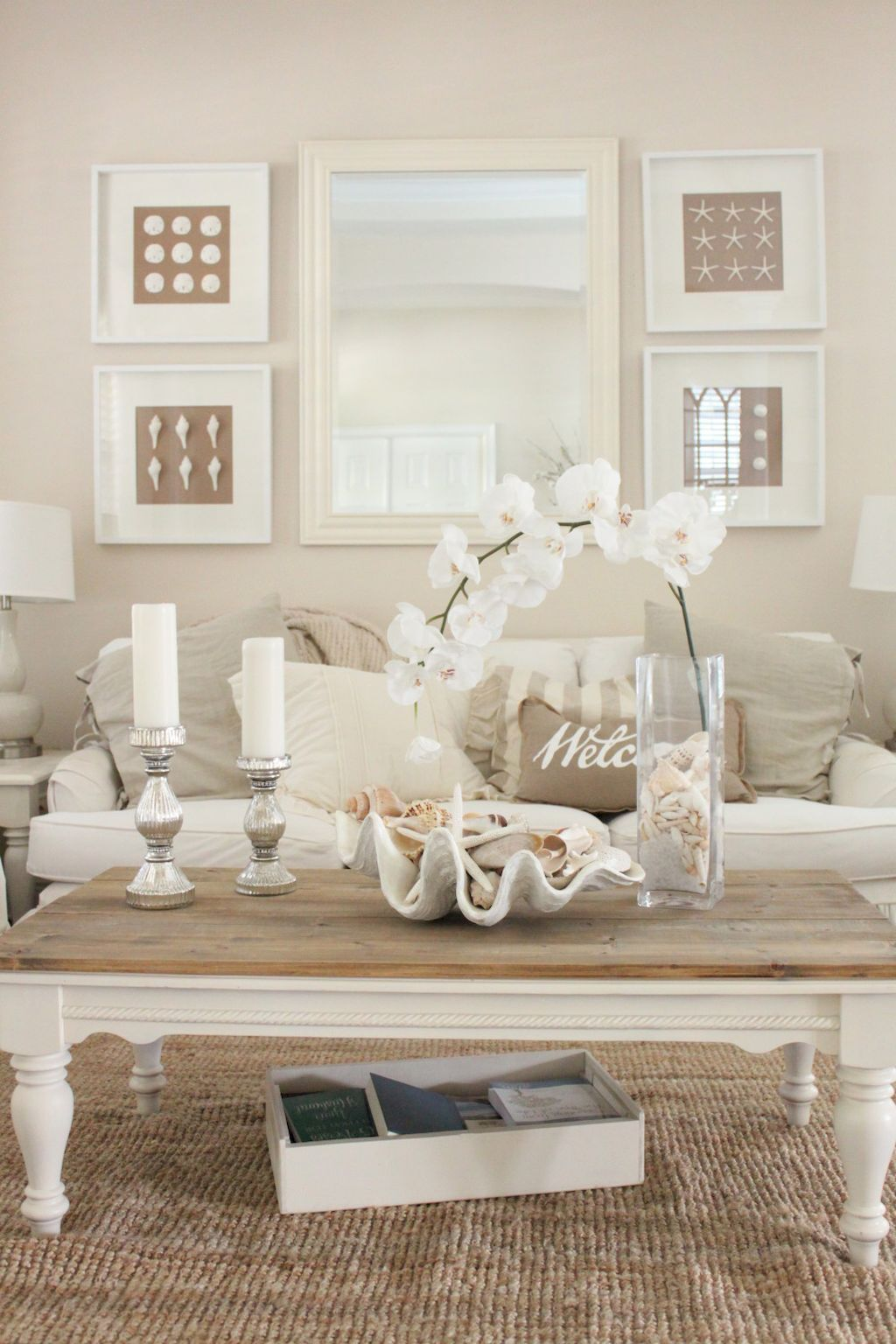 65 Coastal Style Living Room Design and Decor Ideas | Coastal style ...