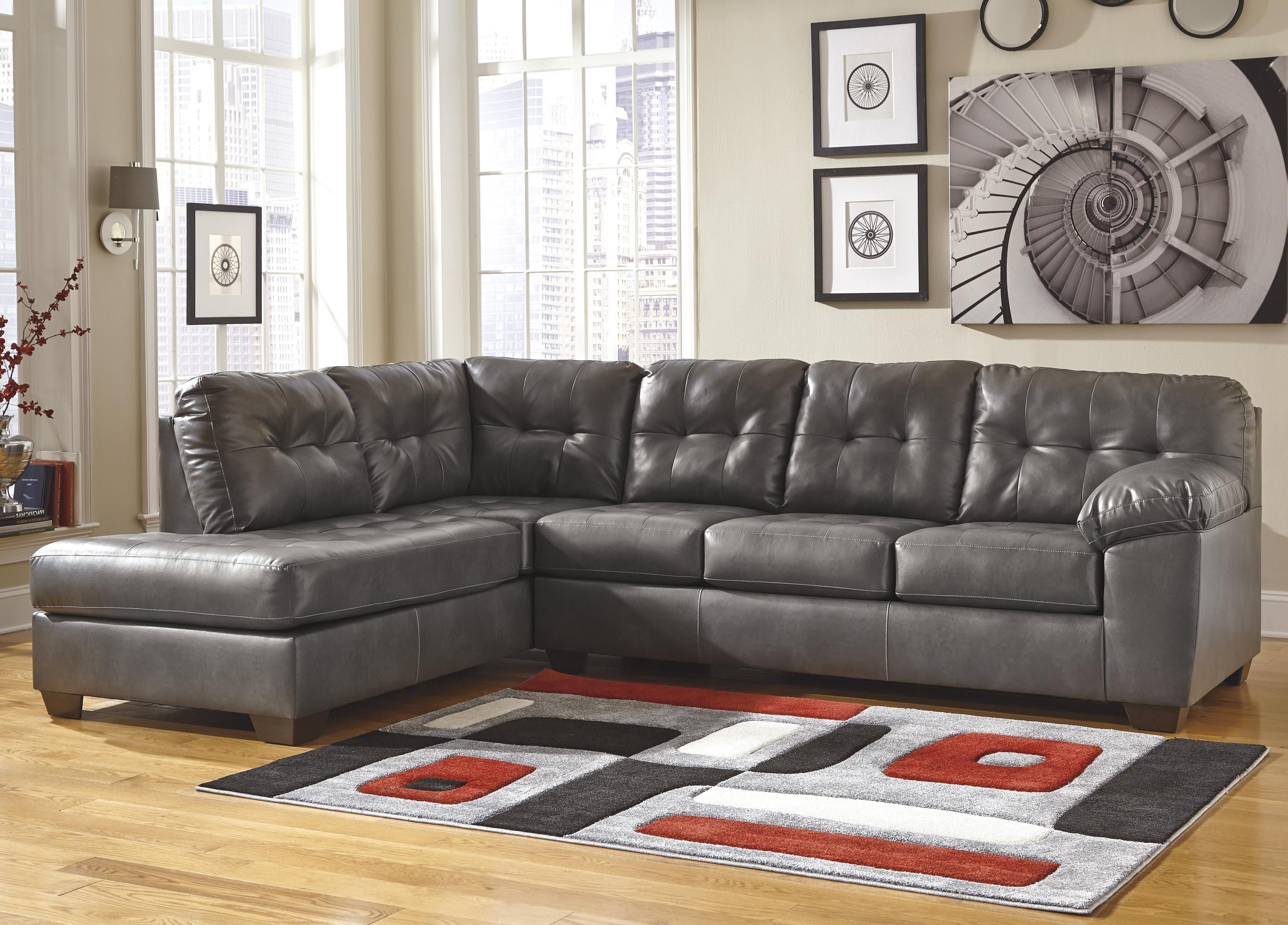 Signature Design By Ashley Alliston DuraBlend®   Gray Right Facing Sectional  W/ Tufting   Nice Ideas