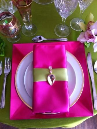 beautiful table settings napkin - Fuschia | Beautiful table settings ...