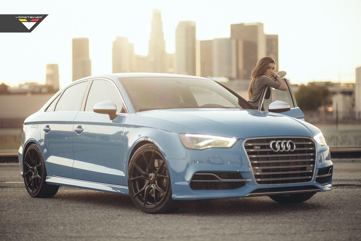 Featured Fitment Audi S3 With Vorsteiner V Ff 103 Wheels Audi S3 Sedan Audi Blue Audi