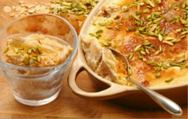 ام علي التقليدي Traditional Arabic Umm Ali Recipe Egyptian Food Cooking Recipes Foodie Recipes