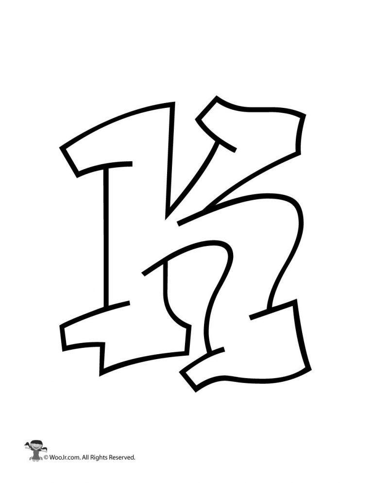 Graffiti Capital Letter K Woo Jr Kids Activities Graffiti Lettering Lettering Alphabet Graffiti Text