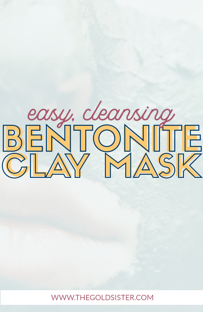 Easy DIY bentonite clay face mask, great for detoxifying your skin so you can start glowing! Click through to read more about it >>