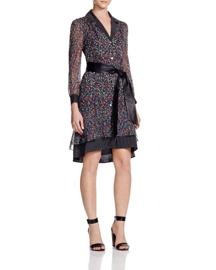 Diane Von Furstenberg Catherine Confetti Shirt Dress Bloomingdale S Exclusive Bloomingdales