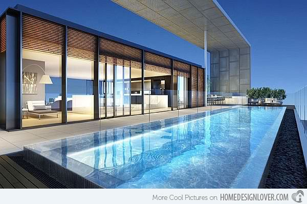 15 Stunning And Relaxing Rooftop Pools Home Design Lover Rooftop Terrace Design Pent House Swimming Pool Designs