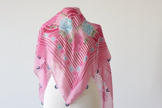 Turkish Scarf  Cotton Pink Floral Oya Yemeni Neckwarmer by soStyle