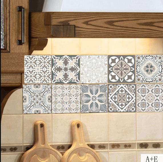 Ceramic Wall Tile Stickers Transfers 10/'/'x 8/'/' Bathroom Tiles