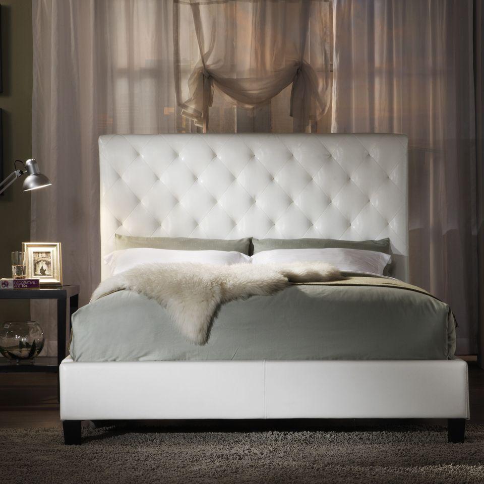 White cushion bed frame bed frames ideas pinterest